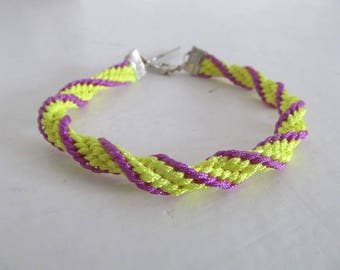Beautiful kumihimo bracelet multicolor #3 charm