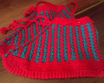 Handmade multicolored indoor slippers