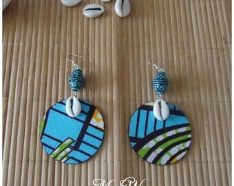 Hand made African fabric earrings