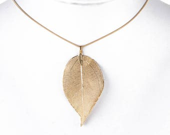 Vintage Necklace Real Nature Fall Leaf
