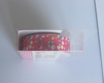 Fabric adhesive 3.50 m flower pattern
