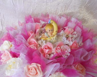 Floral centerpiece for christening or birth
