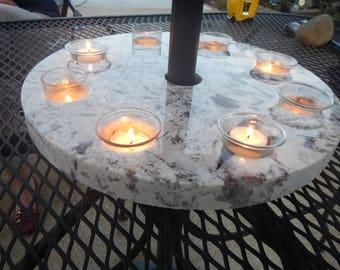 Granite Umbrella Patio Top Candle Holder