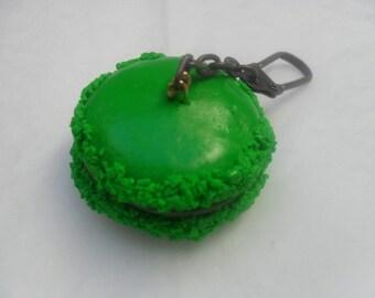 """""""Mint Macaron"""" keychain"""