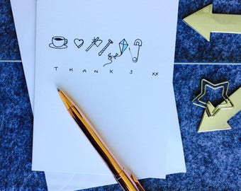 Thanks Handmade card (5 Pack)
