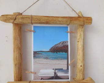 Driftwood picture holder * wall decor
