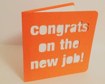 Congrats on the New Job! Papercut Congratulations Work Greetings Card