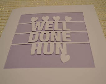 Well Done Hun Papercut Greetings Card