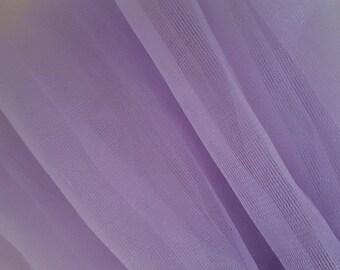 5 meters of soft tulle purple width 25 cm