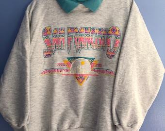 Vintage San Francisco Collared Sweatshirt