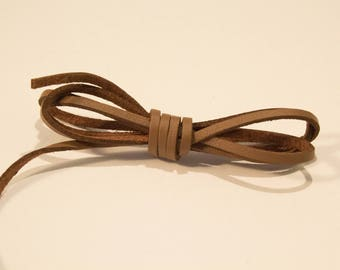 Leather 3 mm chocolate brown suede cord
