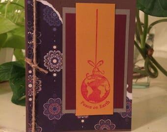 Peace on earth card/peace card/earth day card/save the earth