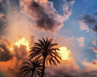 Barcelona Sunset, Sunset, Spain, Nature Photography, Instant Digital Photgraphy