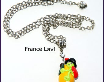 Necklace pendant Lil Pixie beast and the yellow PEAR