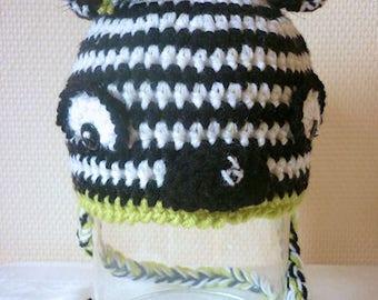 """Premium """"grade"""" beanie baby: crocheted little Zebra, 3/6 months"""