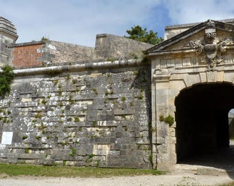 Fortification of an entrance gate at Brouage in Charente Maritime