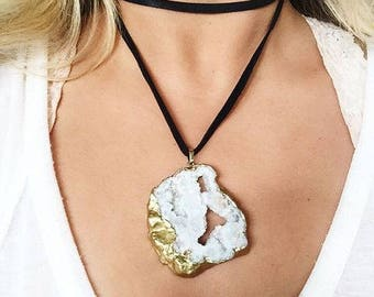 Short wrap necklace