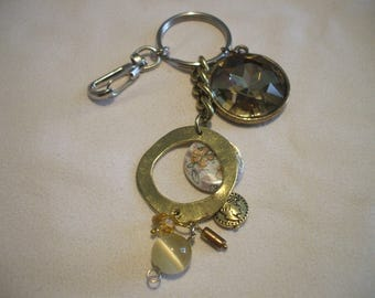key ring or jewelry bag with charms and beads