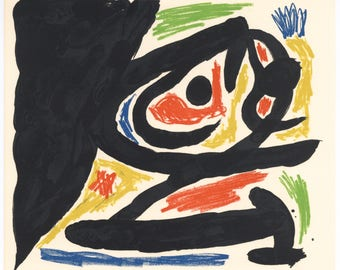 Joan Miro original lithograph for Peintres-graveurs contemporains, 1970