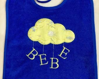 Cloud appliqué bib