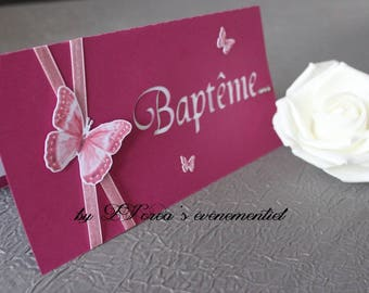 rectangle Butterfly invitation
