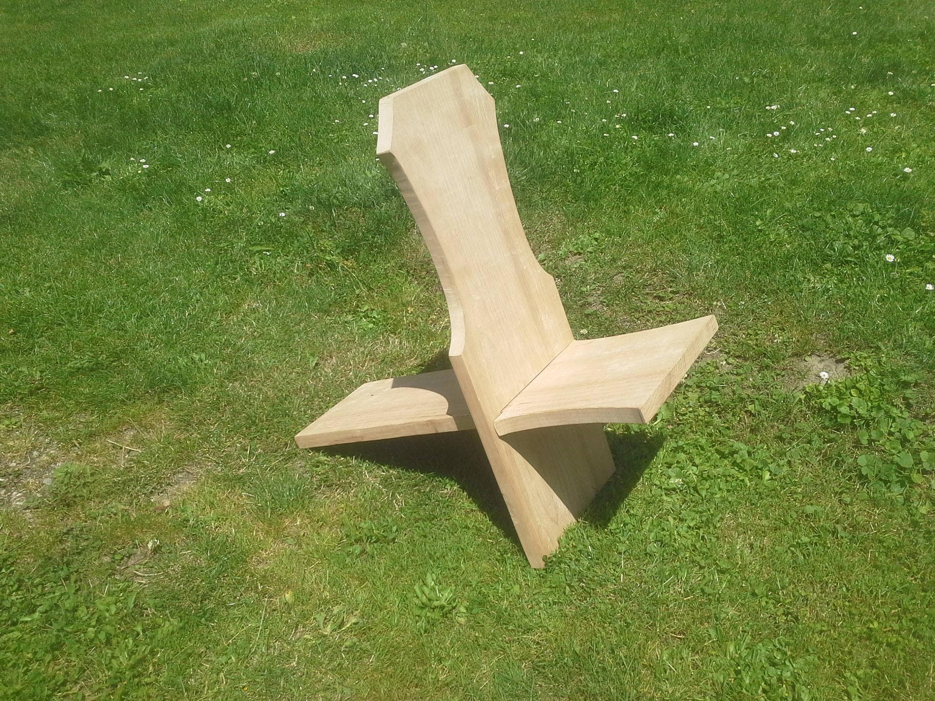 Chaise viking en h tre ou chaise palabres for Chaise a palabre