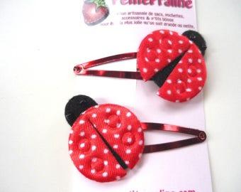 Ladybug Hair clips Barrettes