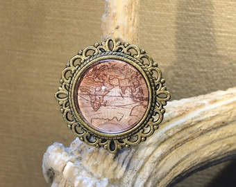 "Ring adjustable ""planisphere"" fantasy, retro, steampunk"