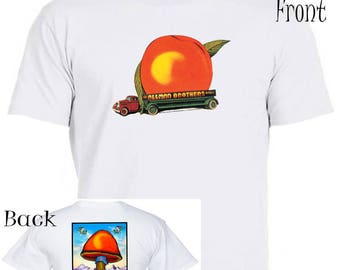 "The ALLMAN BROTHERS,""Eat a Peach"" Tour,2-Sided T-SHIRT All Sizes ,397"