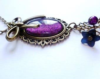 Plum baroque Faerie necklace