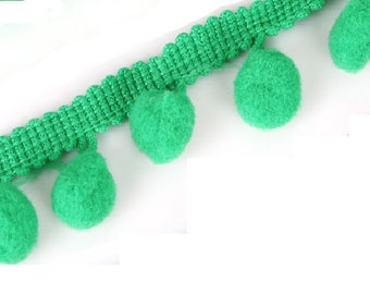 One meter of trim tassel color: Green