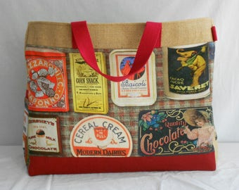 Printed shopping Tote boxes vintage