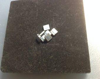 Gray Czech glass bead