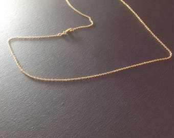 66 cm mesh Simple gold plated chain