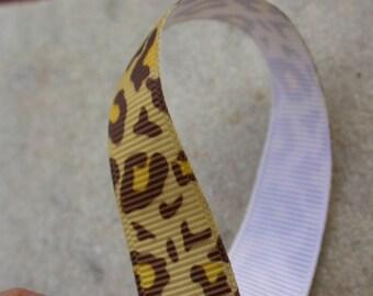 Ribbon grosgrain leopard 16mmx1metre