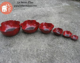 Cup / Bowl ceramic poppy