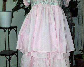 set skirt tunic shabby pink