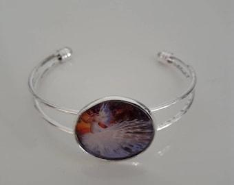women silver cabochon bracelet