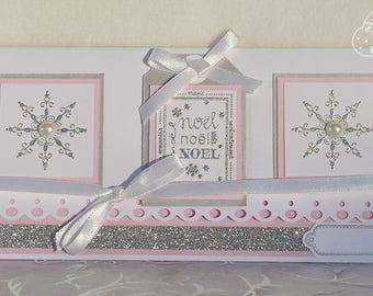 Enveloppe cadeau fait main sur le thème de Noël
