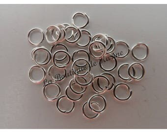250 4 mm METAL jump Rings Silver clear - creating jewelry beads