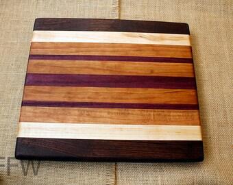 Medium Sized Black Walnut/Cherry/Hard Maple/Purpleheart Cutting Board