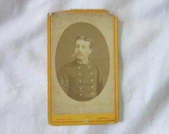 1870 Antique CDV Photograph German Soldier