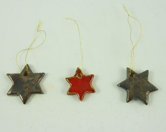 ceramic Christmas tree stars