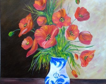 "Painting on canvas ""Poppies"""