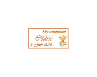 Communion chalice boy/girl Candy labels