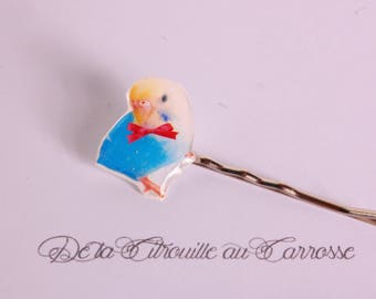 Blue Parrot hair clip