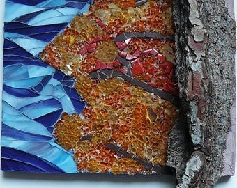 "Painting ""Autumn colors"" glass mosaic - series 4 seasons"