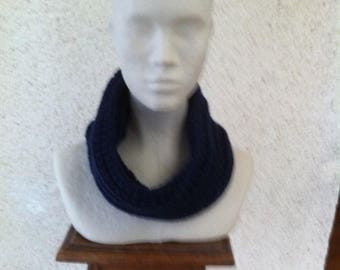 Snood can be hooded Navy