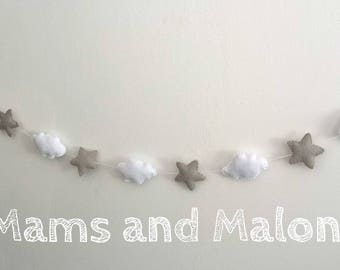 Garland of felt for baby's room or child
