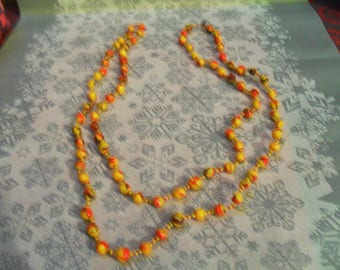 yellow, Burgundy and Red necklace